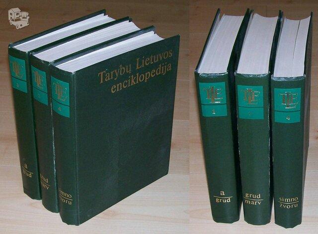 Tarybinių laikų enciklopedijos 1, 2 ir 4 tomai.
