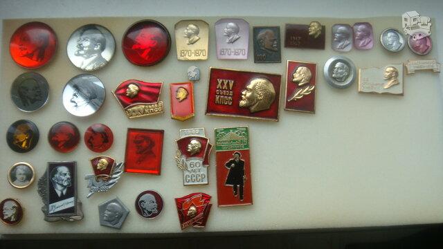 Retesni ženkliukai su Leninu.