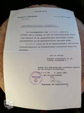 Ww2 vokiskas dokumentas