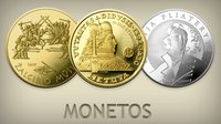 Perkame Lietuvos banko auksines sidabrines monetas