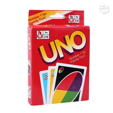 Stalo žaidimas UNO kortos