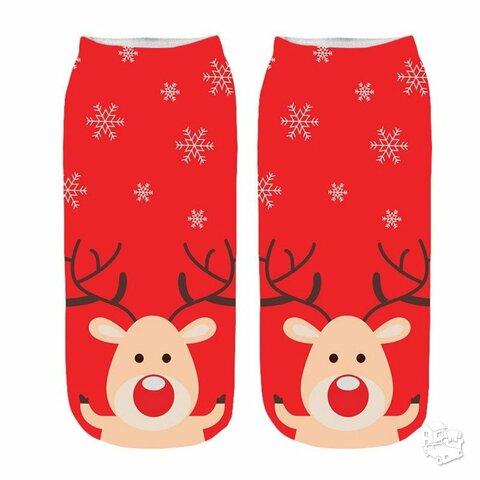 Trumpos Kalėdinės medvilninės kojinės