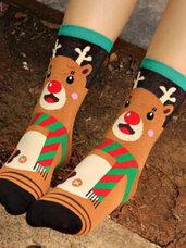 Kalėdinės moteriškos kojinės