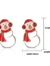 "Kalėdiniai auskarai ""Snowman"""