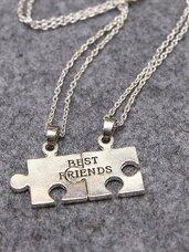 Kaklo papuošalas Best Friends Puzzle, du pakabukai viename