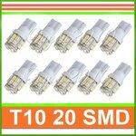LED 20 SMD T10 automobiliams 2 vnt.