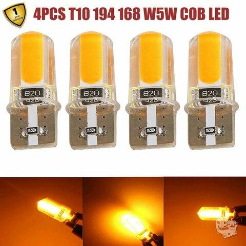 T10 canbus LED com 4 vnt gabaritams, salonui, numeriams