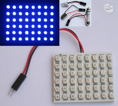 48 LED salono apšvietimas SMD mėlynas