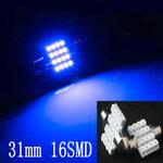 Automobilio salono apšvietimas MĖLYNAS 31 mm LED