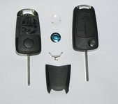 Opel  automobilių raktai su logotipu