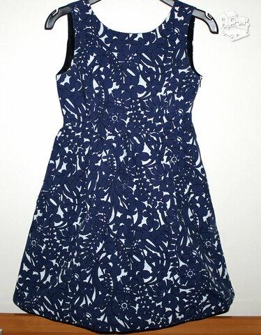 Pūsta, graži mėlyna suknelė