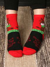 """Kalėdinės moteriškos kojinės """"Dear Santa Is it too late to be"""