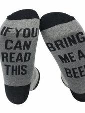 Šmaikščios kojinės If You can read this.. bring me a beer