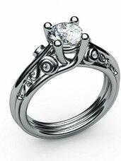 Rankų darbo sužadėtuvių žiedai ir su briliantais