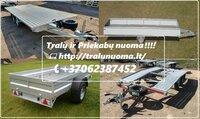 PRIEKABŲ,Traliuku, Platformu, Motociklu priekabu NUOMA