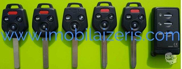 Subaru raktu gamyba raktai pririsimas programavimas
