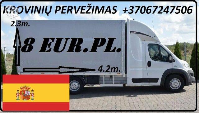 Krovinių Pervežimas iš Lietuvos į Ispaniją iš Ispanijos  į