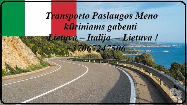 Eksponatų ir parodų įrangos pervežimas Lietuva – Italija –