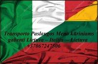 Transporto Paslaugos Meno kūriniams gabenti Lietuva – Italija  –
