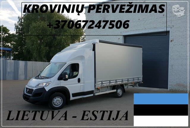 Transporto Paslaugos Meno kūriniams gabenti Lietuva – Estija –