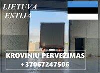 Eksponatų ir parodų įrangos pervežimas Lietuva – Estija –
