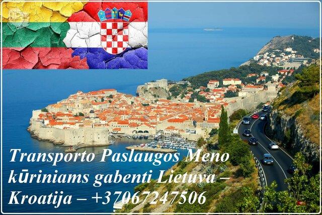 Transporto Paslaugos Meno kūriniams gabenti Lietuva – Kroatija –