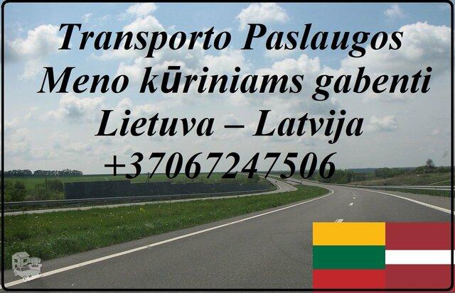 Transporto Paslaugos Meno kūriniams gabenti Lietuva – Latvija –