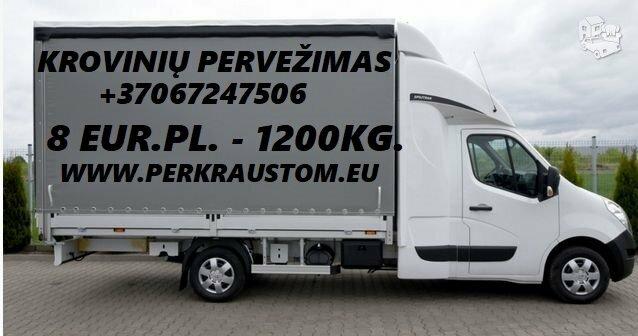Pervežame krovinius Alytus - Trakai - Alytus, bei visoje