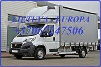Krovinių Pervežimas tentiniu mikroautobusiuku Lietuva – Milanas