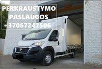 Krovinių Pervežimas tentiniu mikroautobusiuku Lietuva – Zeneva –