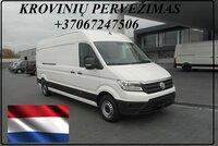 Krovinių Pervežimas tentiniu mikroautobusiuku Lietuva – Almere –
