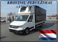 Krovinių Pervežimas tentiniu mikroautobusiuku Lietuva – Breda –