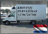 Krovinių Pervežimas tentiniu mikroautobusiuku Lietuva – Nijmegen