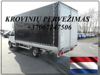 Krovinių Pervežimas tentiniu mikroautobusiuku Lietuva – Enschede