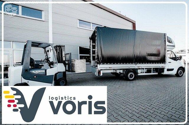 Krovinių gabenimas Lietuvoje. Tentinis krovininis mikroautobusas