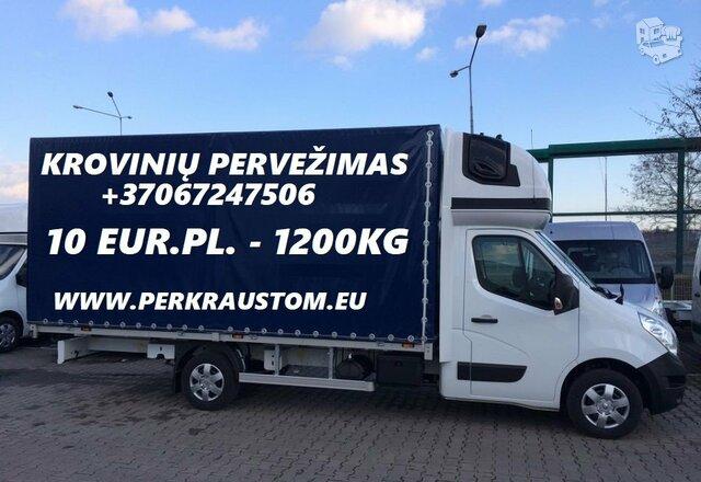 *Pervežame įvairius krovinius iki 1.5 tonų (Baldai, krovinys