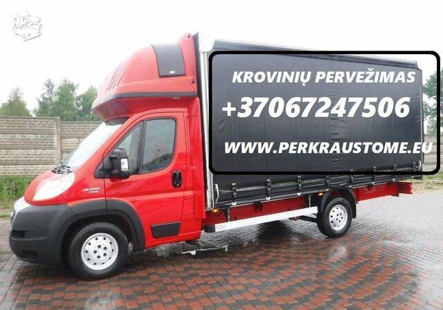 Vežame krovininiais mikroautobusais visoje Lietuvoje. Turim daug