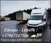 Galimas EKSPRESS krovinių pervežimas. Perkraustome mažas ir