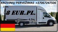 Tarptautinių krovinių pervežimas kelių transportu iš Vokietijos