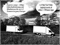 Jei Jums reikalingas skubus krovinių, siuntų, automobilių dalių