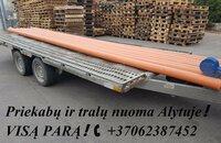 Platformų, Tralų ir Priekabų Nuoma ! +37062387452 www.tralunuoma
