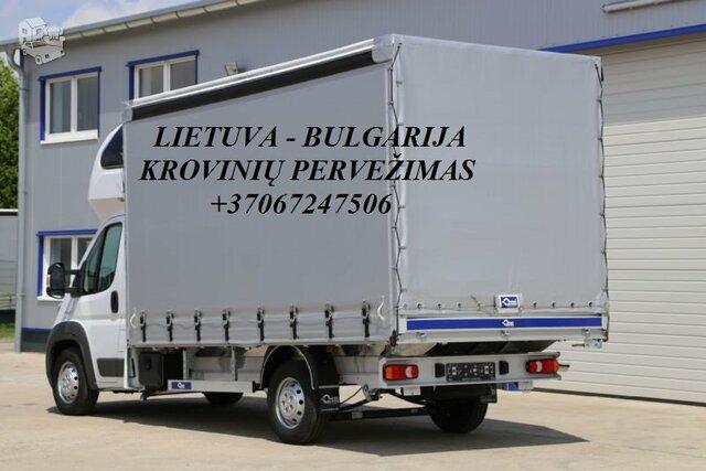 Perkraustymo paslaugos BULGARIJA-Lietuva-BULGARIJA  LT-BG-LT