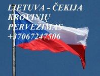 Tarptautiniai perkraustymai Lietuva-ČEKIJA-Lietuva