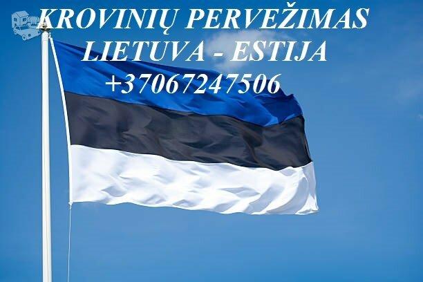 Teikiame tarptautinio perkraustymo paslauga LT - EE – LT