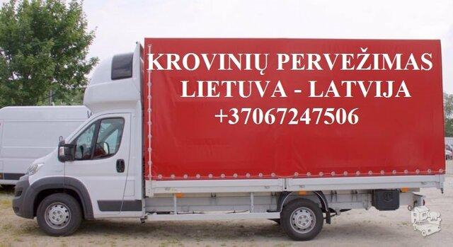 Perkraustymo paslaugos LATVIJA-Lietuva-LATVIJA  LT-LV-LT