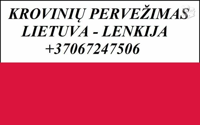 Perkraustymo paslaugos Lenkija-Lietuva-Lenkija PL-LT