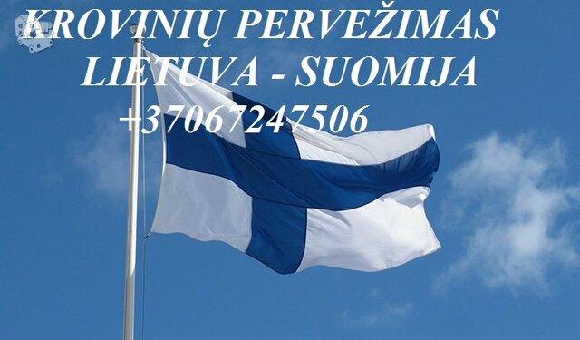 Teikiame tarptautinio perkraustymo paslauga LT - FIN – LT .
