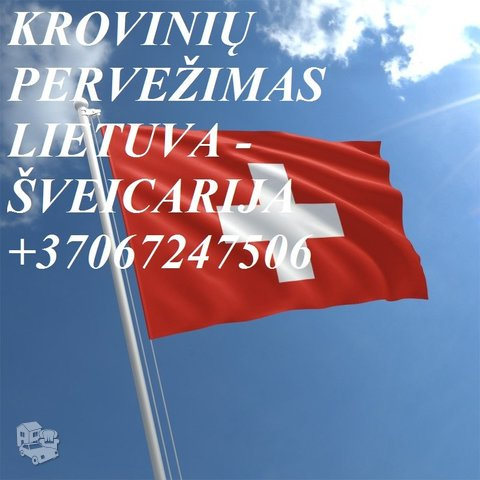 Tarptautiniai perkraustymai Lietuva-ŠVEICARIJA-Lietuva. LT-CH-LT