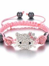 Hello Kitty apyrankė, rožinės spalvos