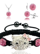 Hello Kitty papuošalų rinkinys (rožinė)